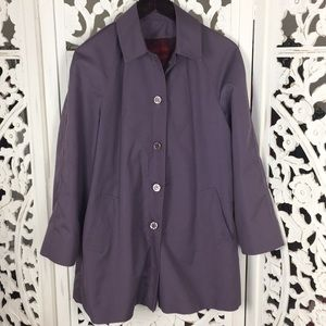 Vintage Purple Trench Wooo lined Coat